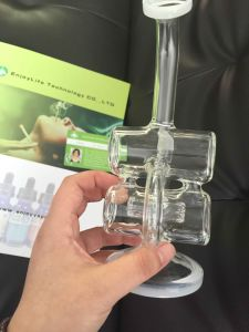 in Stock! Recycly Perc Glass Waterpipe, Sample Is Available Pipes pictures & photos