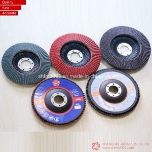 "CE Approved Brown 4"" Aluminum Oxide Flap Disc (High quality) pictures & photos"