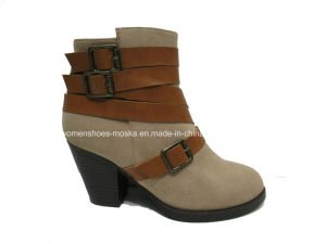 Hot Selling Lady Fashion Women Chunky Heel Ankele Boots for Leisure pictures & photos