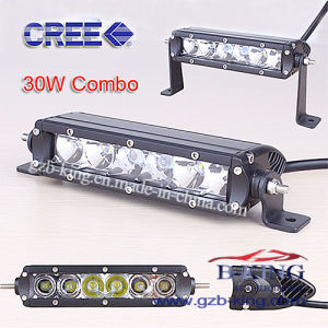Single Row CREE 30W LED Light Bar with 3D Reflectors pictures & photos