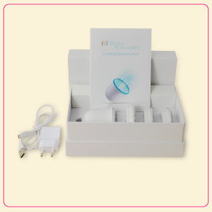 Portable Ultrasonic 4 LED Photon Rejuvenation Lights Care Skin Wrinkle Remover Facial Beauty Massager Tool pictures & photos
