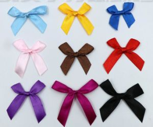 Custom Satin Ribbon Bowknots pictures & photos