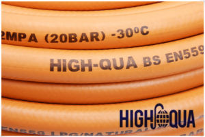 Orange Cover, Smooth Fabric Braided Flexible Gas Hose En559 LPG Hose pictures & photos