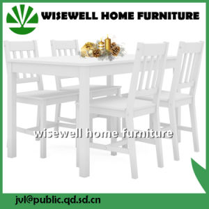 Solid Wood Dining Room Furniture Set (W-5S-94 WT) pictures & photos