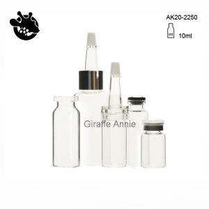 Clear / Amber 10ml Vial Antibiotic Glass Bottle