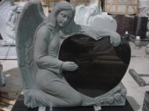 Granite Angel Heart Tombstone Monument