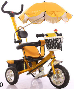 Safe Anti-UV Umbrella Baby Tricycle Baby Carrier (SW-5190) pictures & photos