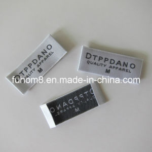 Garment Woven Size Label / Size Tag with 50d Polyester Yarn pictures & photos