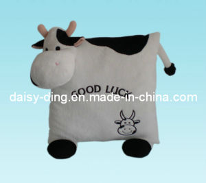 Plush Cow Cushion with Soft Embroidery pictures & photos