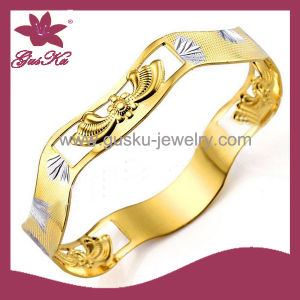 Fashion Jewelry Health Care Copper Magnetic Bangle (2015 Gus-Cpbl-089g)