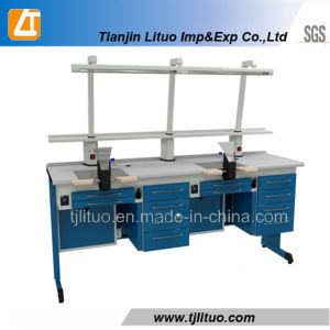 Hot Sale Red Color Corner Dental Lab Bench pictures & photos