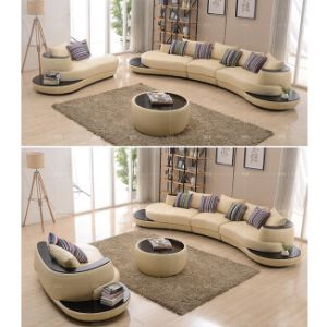 Italian Style Half Moon Shape Sectional Sofa S8021 pictures & photos