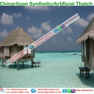 Synthetic Thatch Tiki Bar/Tiki Hut Synthetic Thatched Cottage Water Bungalow Beach Umbrella pictures & photos