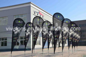 3.2m Tear Drop Advertising Flag Banner with Printing Dye Sublimation pictures & photos