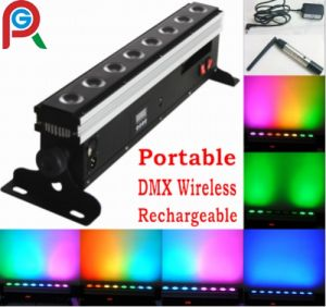 8X10W RGBWA Wireless LED Bar/ Wireless LED Wall Washer pictures & photos