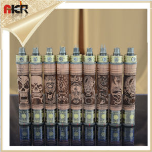 E Cigarette Wooden Electronic Cigarette Kits with VV Mod E Fire Vaporizer Pen Wood Spinner Battery for EGO Series E Cigarette