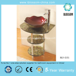 Freestanding Single Glass Sink Cabinet (BLS-2151) pictures & photos