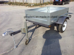 Small Galvanized Box Trailer Tr0406 pictures & photos