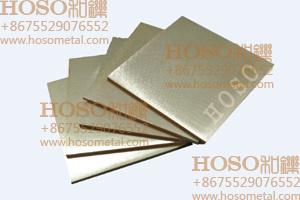 Tungsten Copper Plate, Tungsten Copper Alloy Plate, Copper Tungsten Plate W70/Cu30 Size: 2X100X100mm, 5W3 (elkonite) Copper Tungsten Electrode
