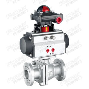 Pneumatic Flanged Vacuum Ball Valve pictures & photos