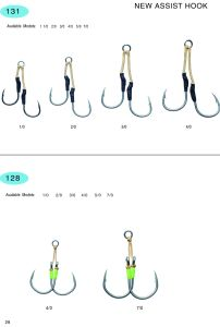 Stainless Steel and High Carbon Hook/Fishing Hook /Assist Hook /Fishing Accessories131; 128