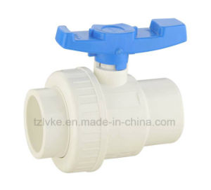Plastic Single Union Ball Valve for Pool Swimming with ISO9001 (ANSI, SCH80) pictures & photos