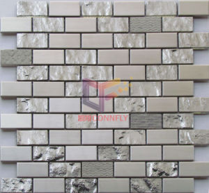 Silver Stainless Steel Mix Titanium Crystal Mosaic (CFM952) pictures & photos