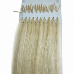 European Remy Blonde Flat Tip Human Hair Extensions pictures & photos