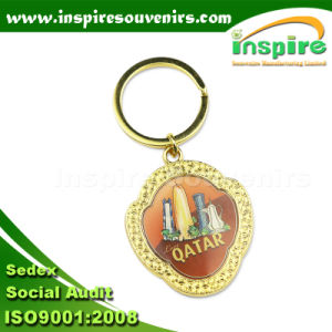 Metal Key Chain with Epoxy Coating or Printing pictures & photos