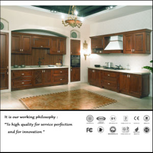 Classical Solid Wood Kitchen Cabinet (ZH6010) pictures & photos