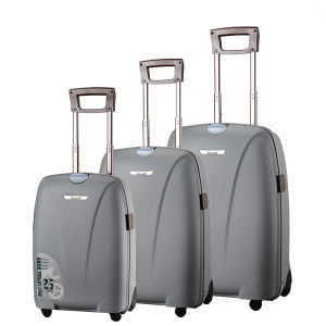 China Hot Sale! PP Aluminum Trolley Wheeled Luggage Set PP Trolley ...