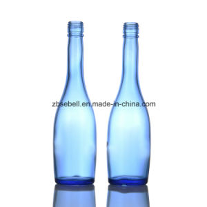 500ml Blue Color Glass Liquor Bottles pictures & photos