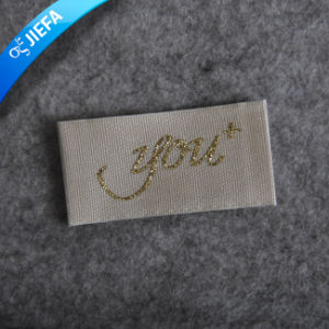 High Density Custom Women′s Clothing Damask Neck Label pictures & photos