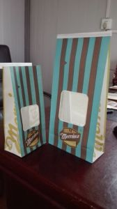 Tin Tie Handle Paper for Popcorn pictures & photos