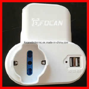Italian Adaptor Plug with USB Port 5V 2.1A pictures & photos