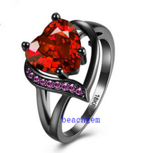 Black Plated Color CZ Jewelry Rings (R0844)