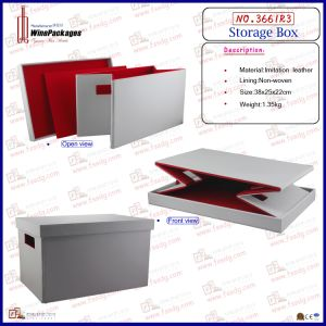 White Foldable Storage Box (3661R3) pictures & photos