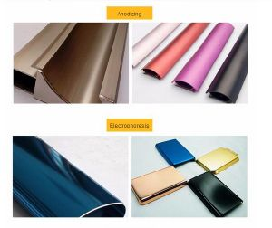 Building Material 6063 6061 Alloy Extruded Color Power Coating Aluminium Profile pictures & photos