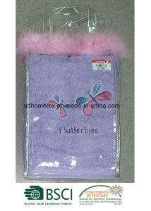 Face Towel With Embroidery Packed in PVC Polybag