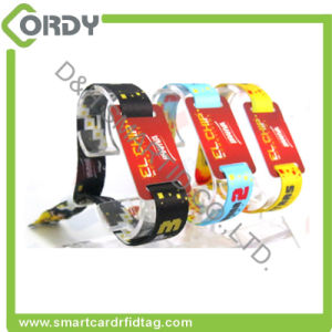 Disposable MIFARE Ultralight EV1 RFID woven wristband pictures & photos