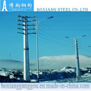 Galvanized Electric Power Transmission Pole