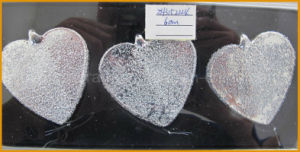 Heart Shape Glass Craft for Christmas Decorations pictures & photos