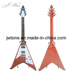 Mahogany Body Flying V Electric Guitar pictures & photos