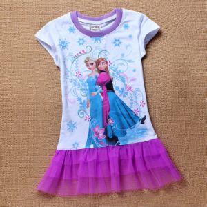 2014 New Style 2-8yrs Girls Dress-Frozen Dress, Flower Girl Dress