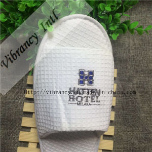 White Waffle Slippers Open Toe Hotel Disposable Slipper pictures & photos