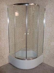 Bathroom Square Simple Sliding Tempered Glass Shower Enclosure 90 pictures & photos