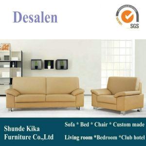 Khaki Office Sofa, Leather Sofa (8515) pictures & photos