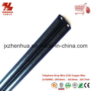 18AWG CCS Telephone Black PE Drop Wire Made in China pictures & photos