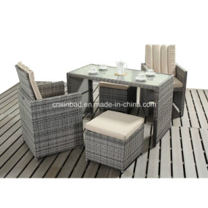Table with Chairs and Footstools for Outdoor / Dining Room (417-2) pictures & photos
