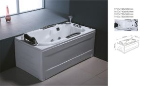 Acrylic Freestanding Massage Rectangle Bathtub (BNG5005)